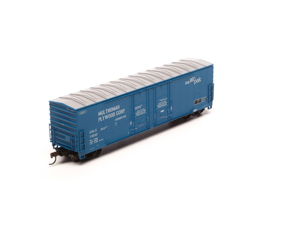 Athearn HO RTR 50' Evans Ex-DW DD Plug Box, USLX #13030