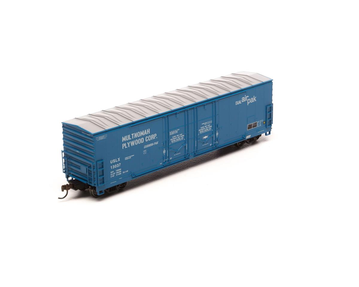 Athearn HO RTR 50' Evans Ex-DW DD Plug Box, USLX #13037