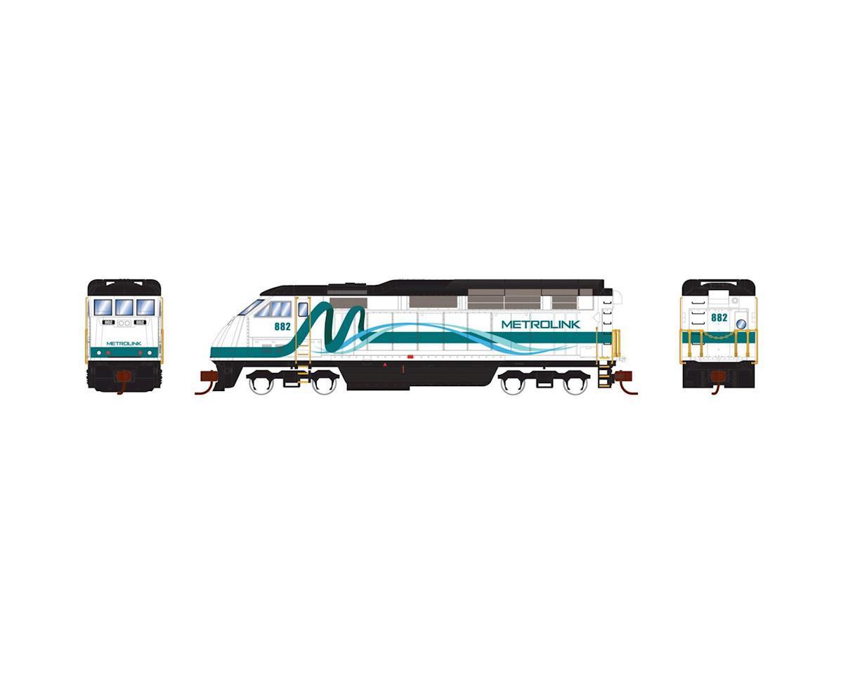 Athearn N F59PHI w/DCC & Sound, Metrolink #882