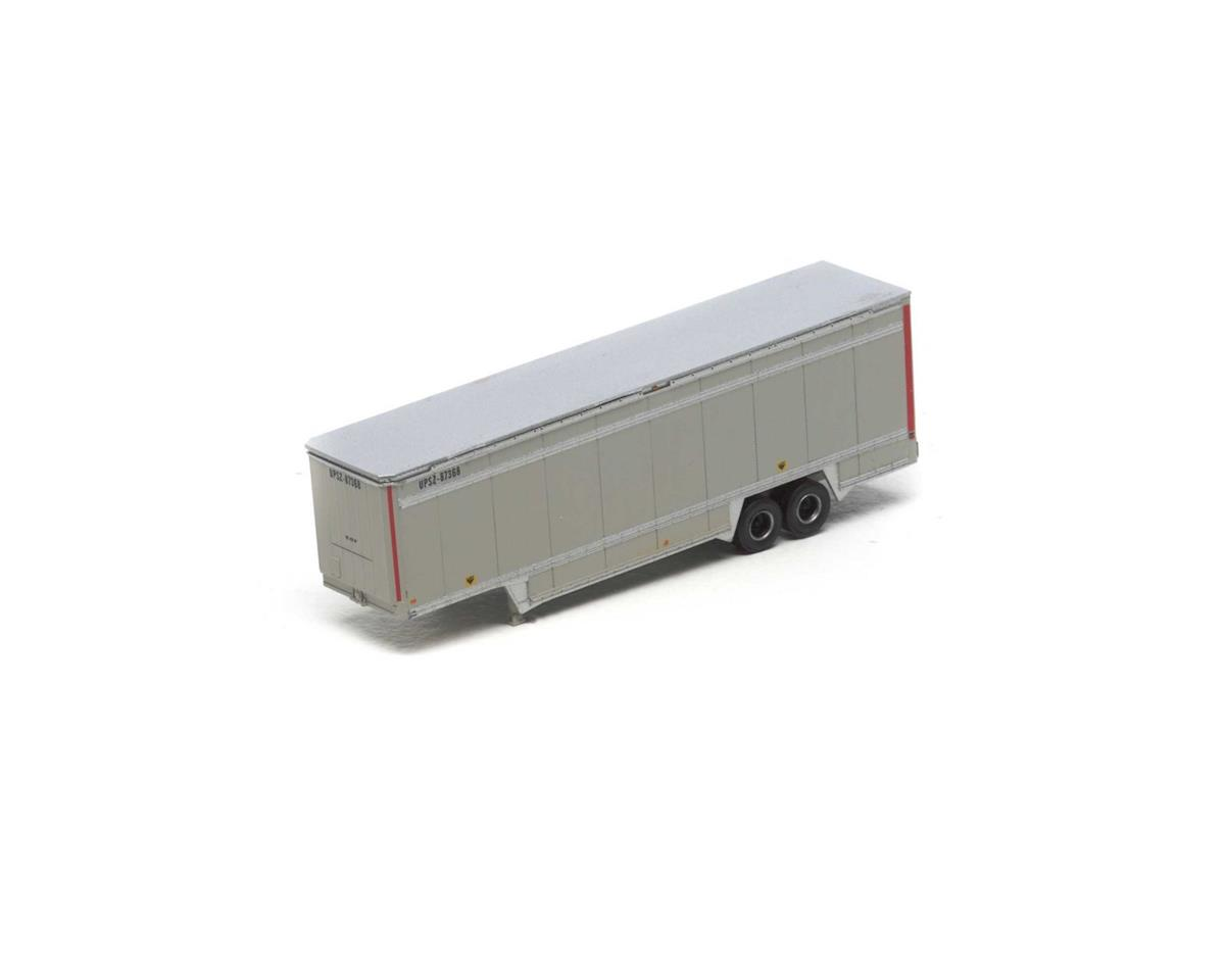 Athearn N 40' Drop Sill Parcel Trailer, UPS/Red Stripes #1