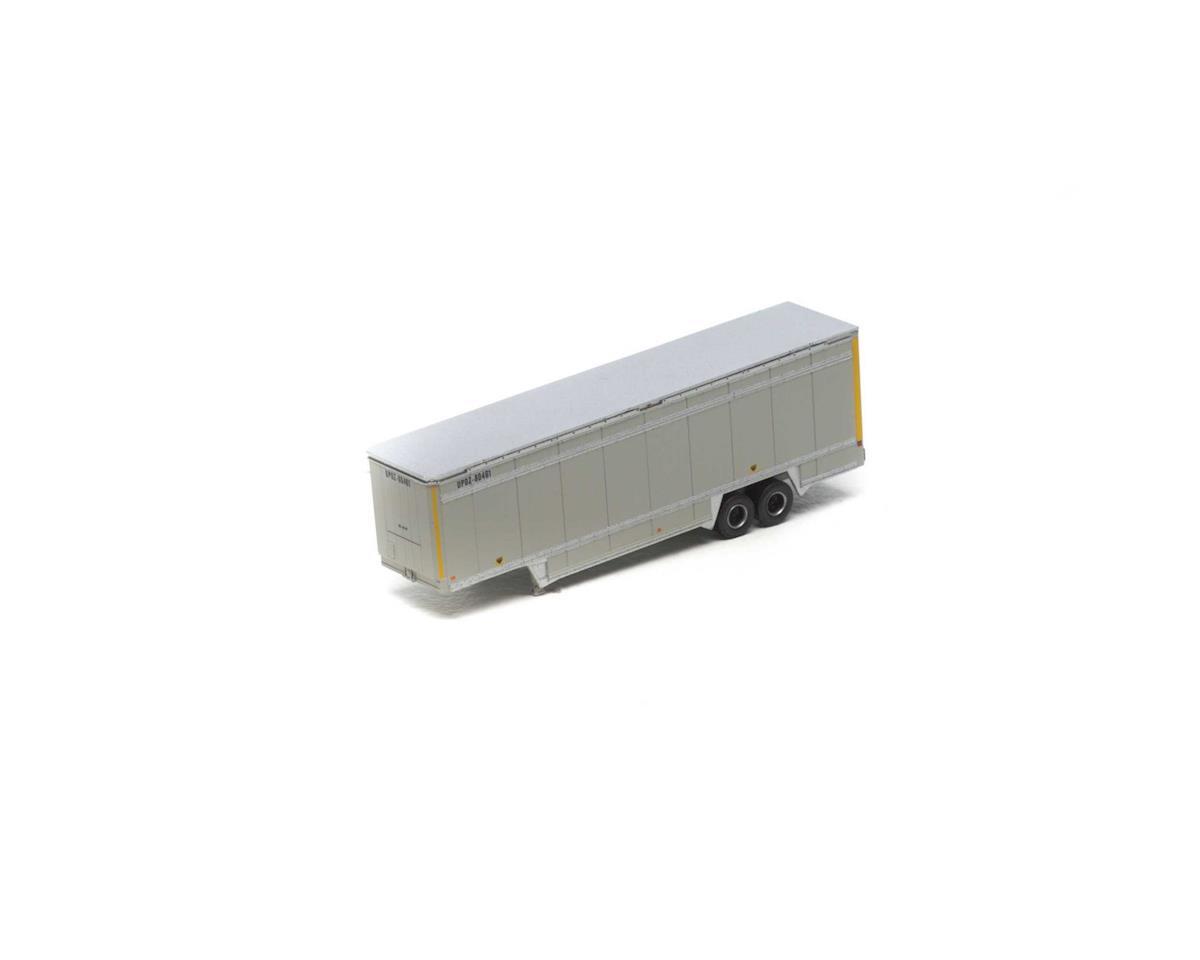 Athearn N 40' Drop Sill Parcel Trailer,UPS/Yellow Stripe#1