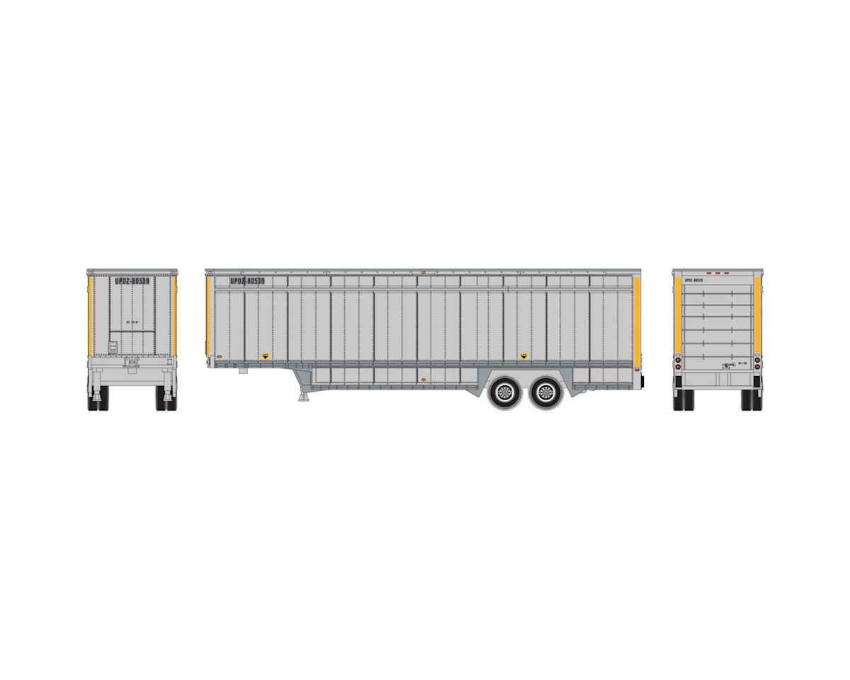 Athearn N 40' Drop Sill Parcel Trailer,UPS/Yellow Stripe#2