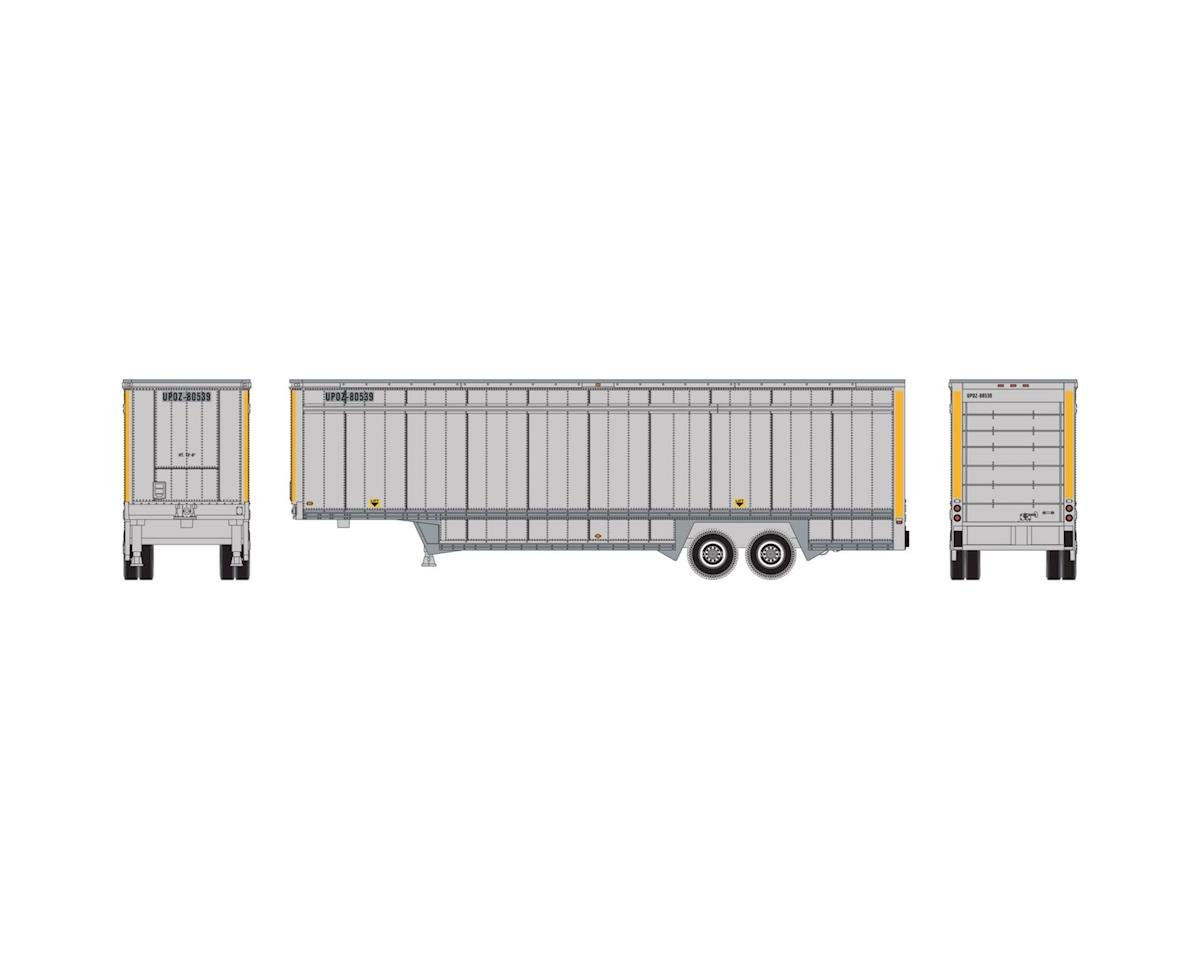 N 40' Drop Sill Parcel Trailer,UPS/Yellow Stripe#2 by Athearn