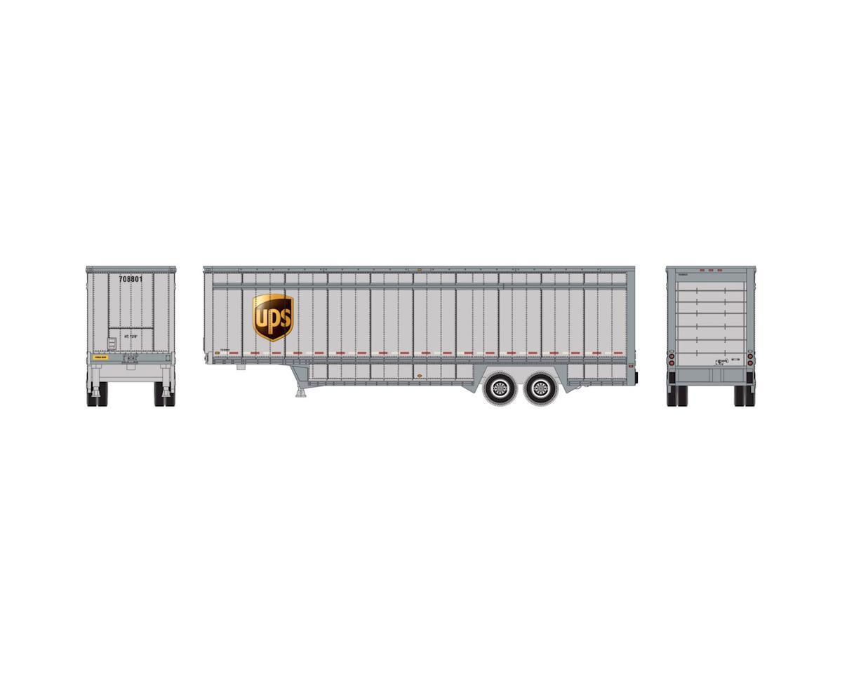 Athearn N 40' Drop Sill Parcel Trailer, UPS/Logo #708801