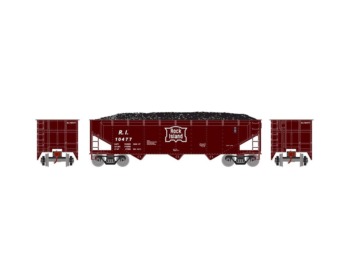Athearn HO RTR 40' 3-Bay Offset Hopper w/Load, RI #10477