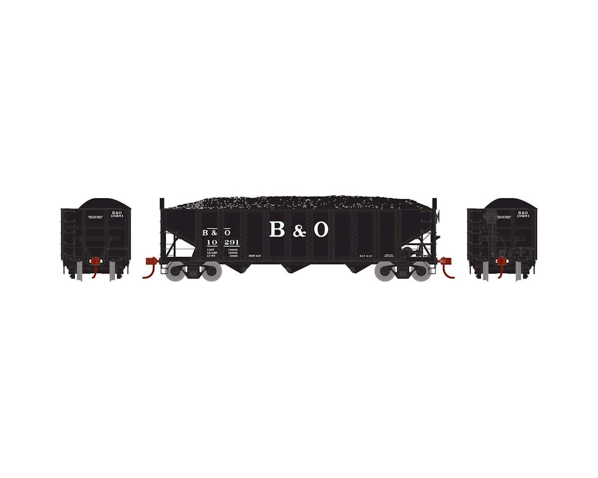 Athearn HO RTR 40' 3-Bay Ribbed Hopper w/Load, B&O #10291