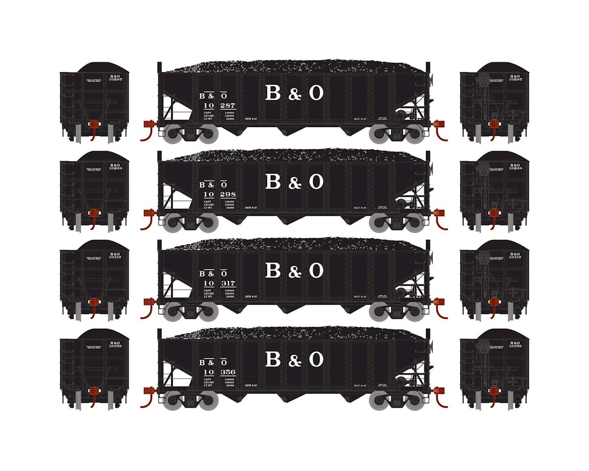 HO RTR 40' 3-Bay Ribbed Hopper w/Load, B&O #1 (4) by Athearn