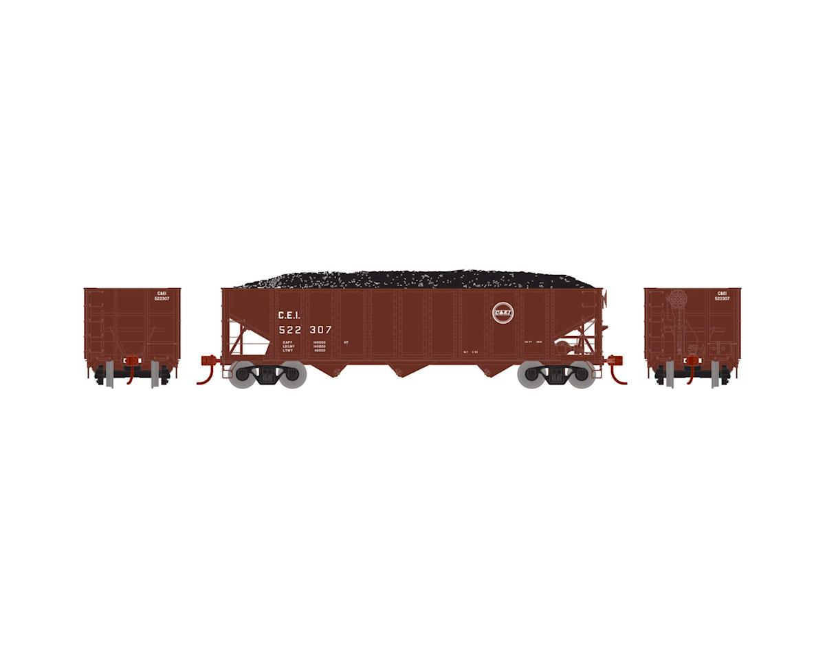 Athearn HO RTR 40' 3-Bay Ribbed Hopper w/Load,C&EI #522307