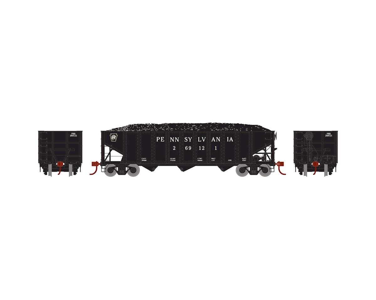 Athearn HO RTR 40' 3-Bay Ribbed Hopper w/Load, PRR #269121