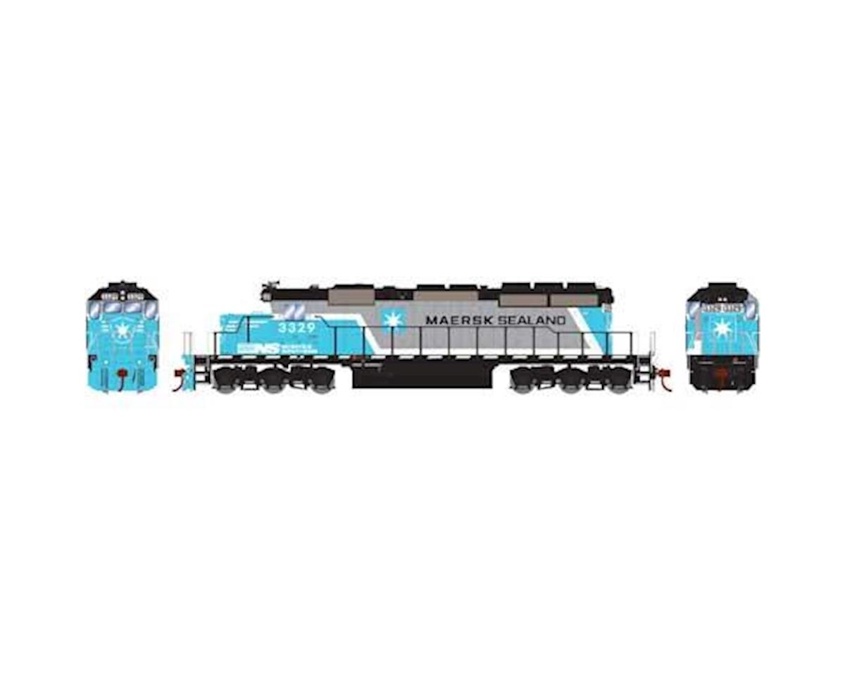 HO RTR SD40-2 w/DCC & Sound, NS/Maersk #3329 by Athearn