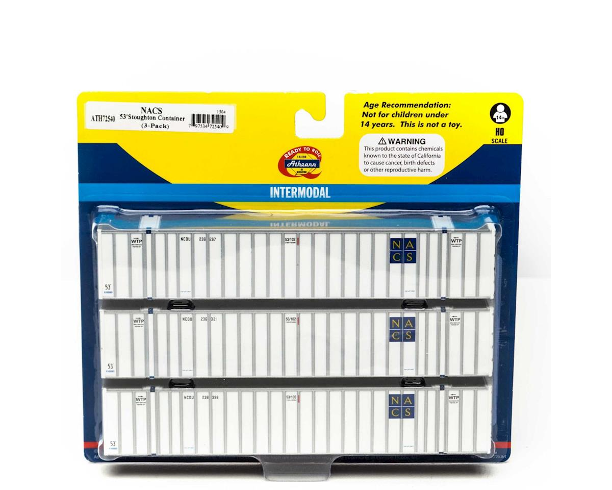 Athearn HO RTR 53' Stoughton Container, NCDU #2 (3)
