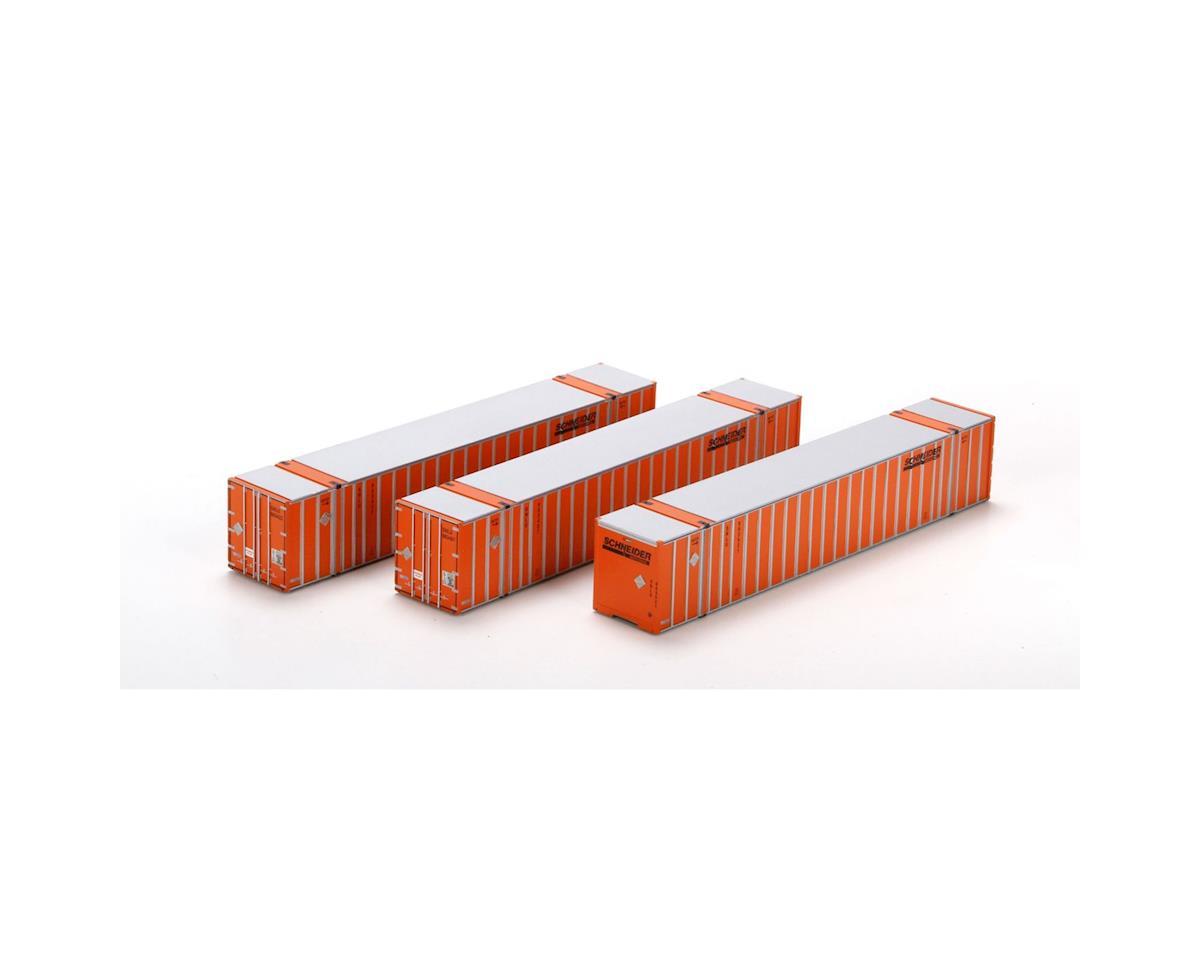 Athearn HO RTR 53' Stoughton Container, SNLU/Orange #1 (3)
