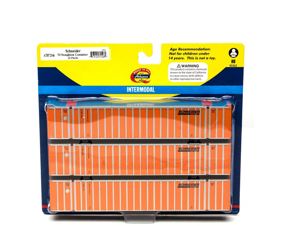 Athearn HO RTR 53' Stoughton Container, SNLU/Orange #2 (3)