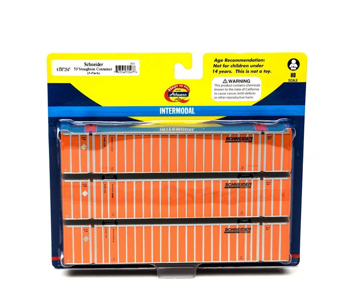 Athearn HO RTR 53' Stoughton Container, SNLU/Orange #3 (3)
