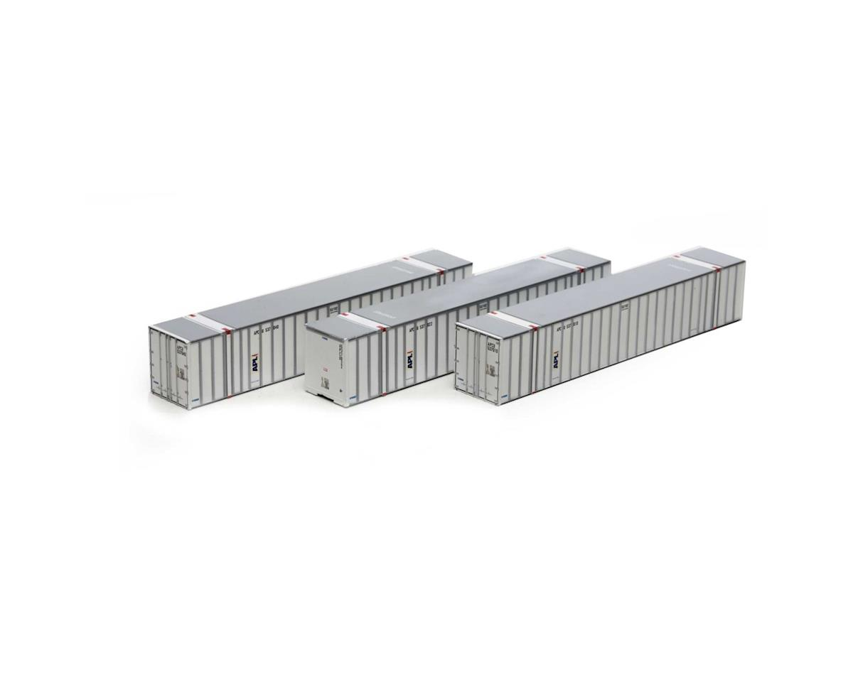 Athearn HO RTR 53' Stoughton Container, APL #1 (3)