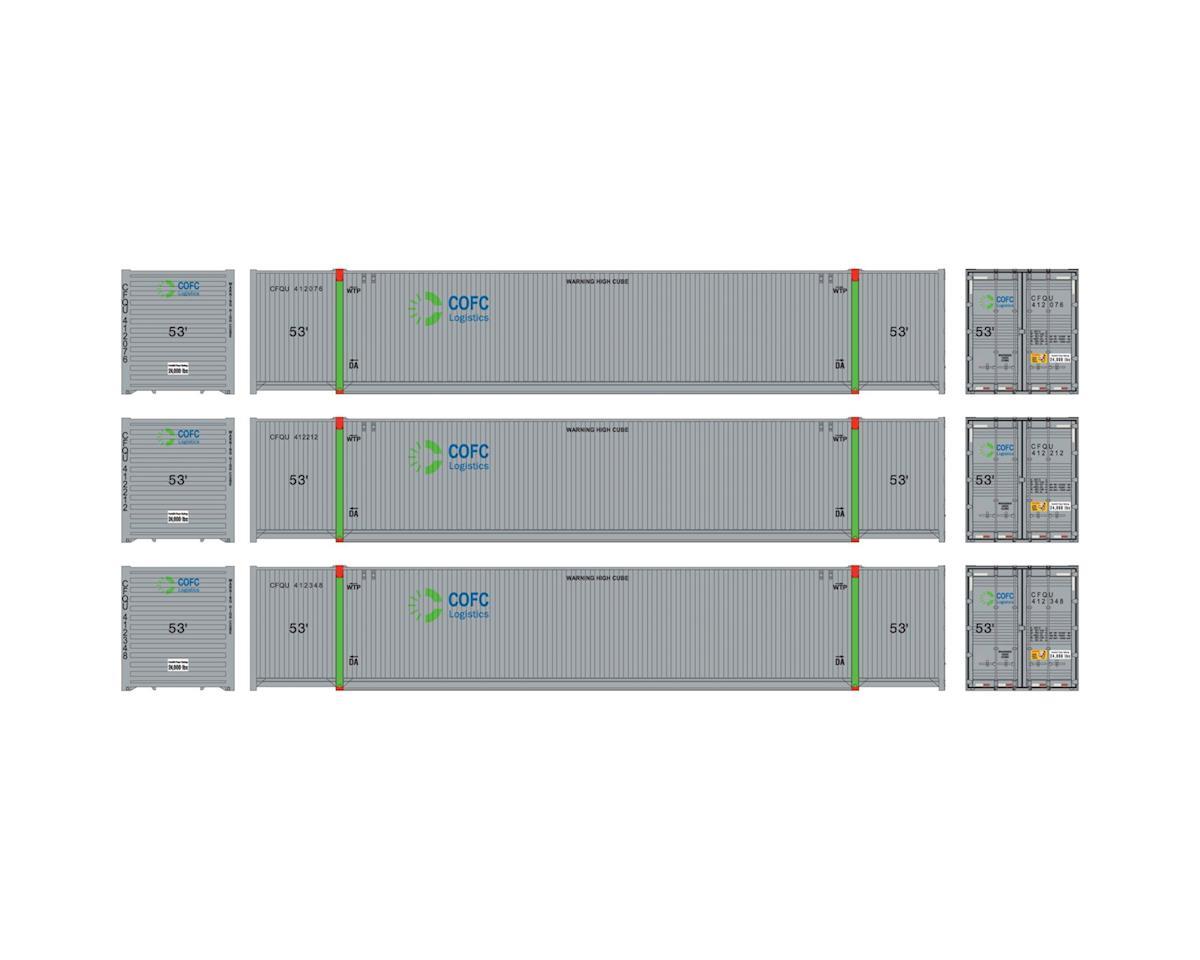 Athearn HO RTR 53' CIMC Container, COFC Logistics #1 (3)