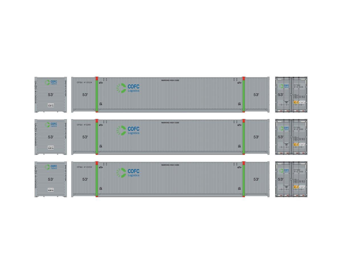 Athearn HO RTR 53' CIMC Container, COFC Logistics #2 (3)