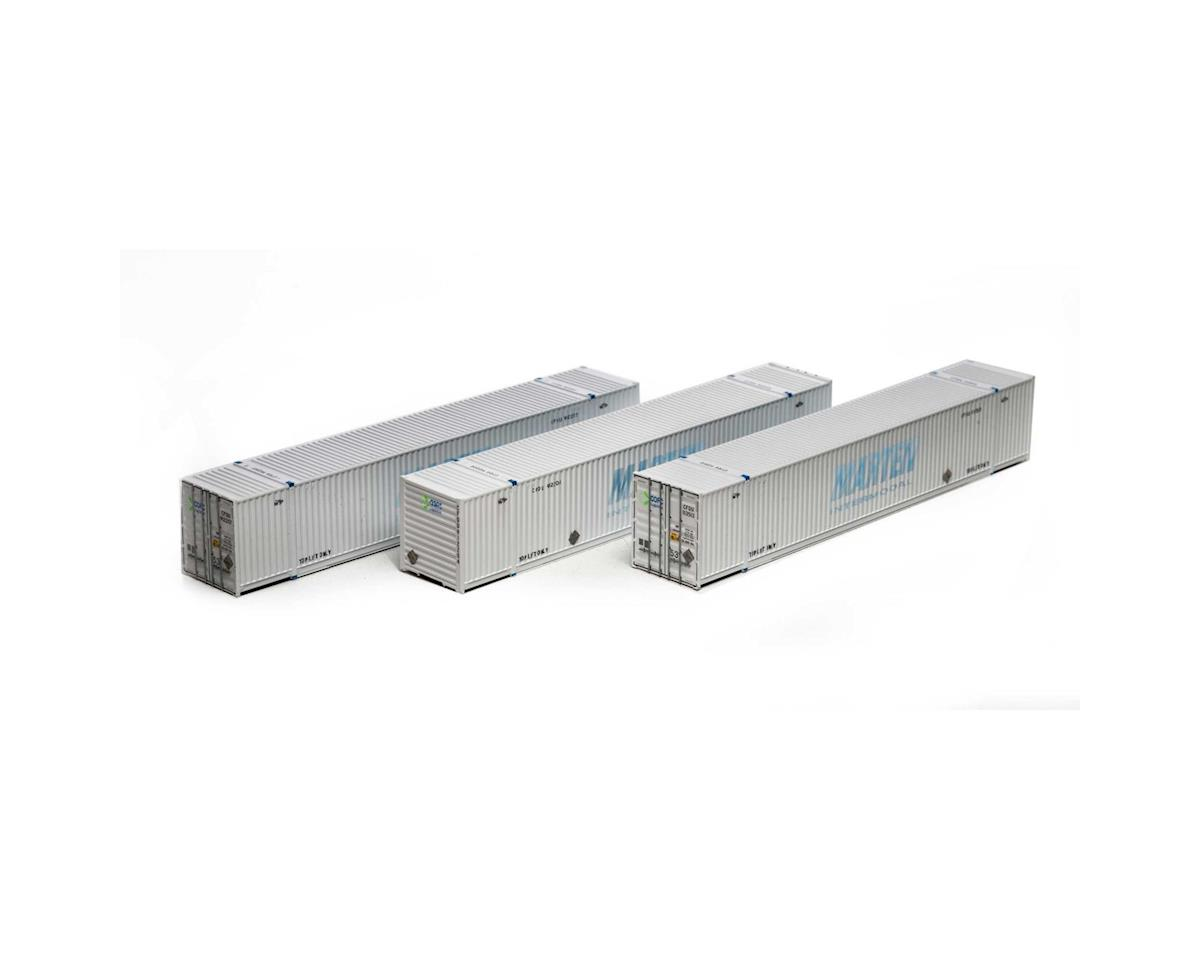 Athearn HO RTR 53' CIMC Container, COFC Logistics/Grey (3)