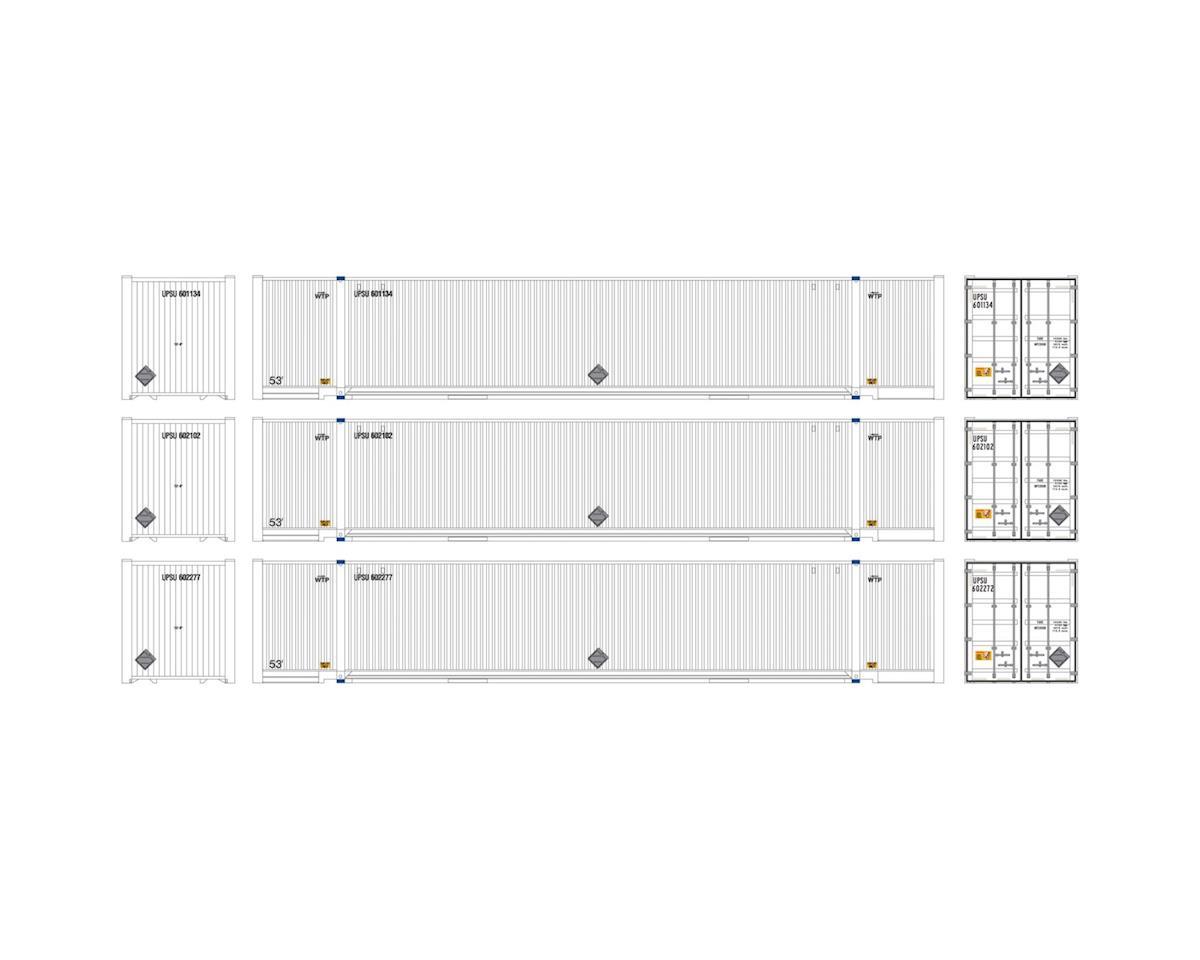 Athearn HO RTR 53' Jindo Container, UPSU #1 (3)