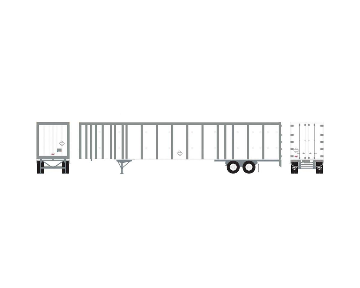 Athearn HO RTR 53' Wabash Plate Trailer, Owner-Operator #1