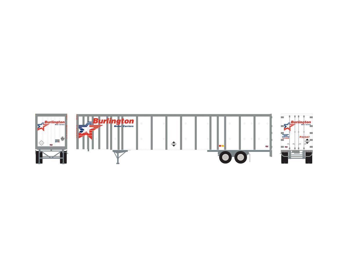 Athearn HO RTR 53' Wabash Plate Trailer,Burlington #P32347