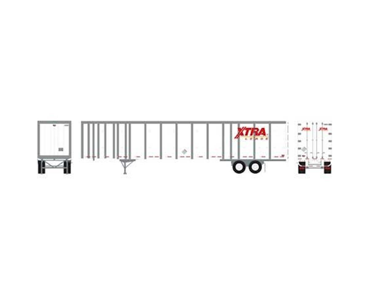 Athearn HO RTR 53' Wabash Plate Trailer, XTRA #U10355
