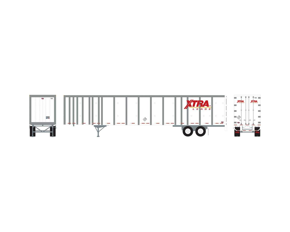 Athearn HO RTR 53' Wabash Plate Trailer, XTRA #7425