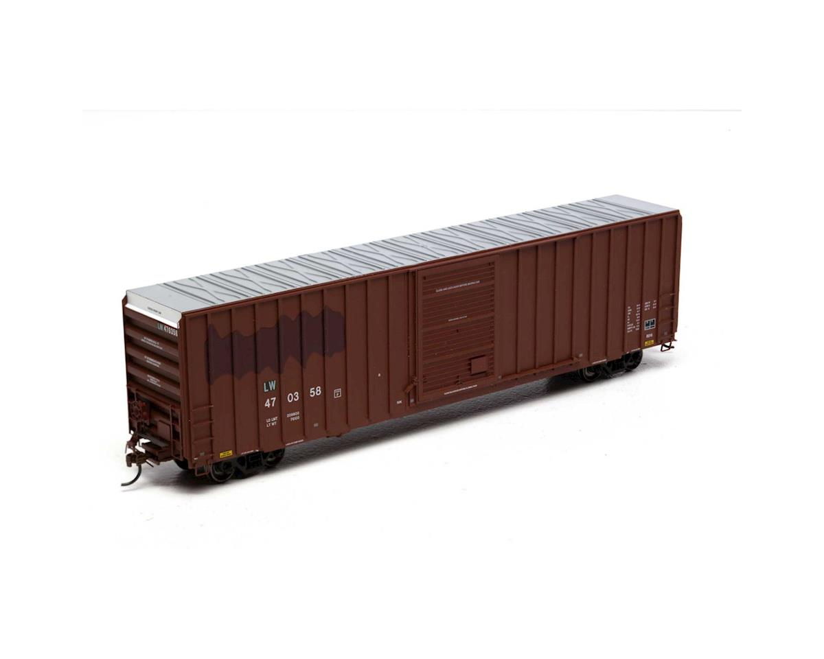 HO RTR FMC 60' Hi-Cube EP Box, L&W/Brown #470358 by Athearn