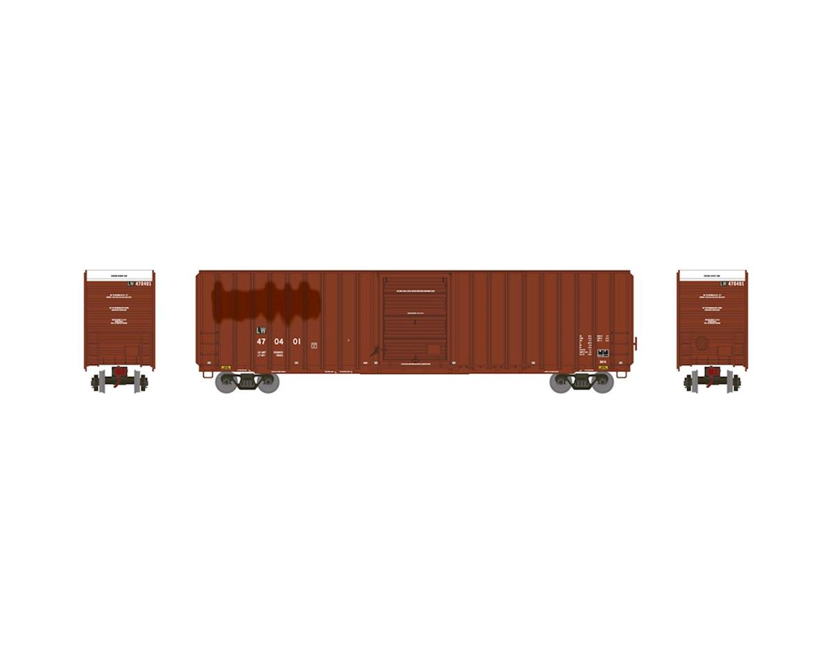 Athearn HO RTR FMC 60' Hi-Cube EP Box, L&W/Brown #470401