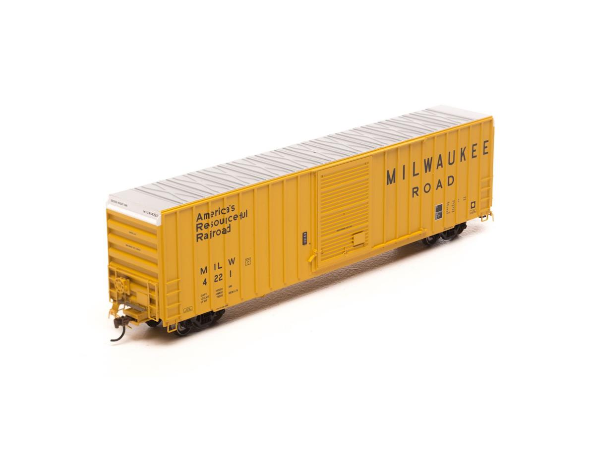 HO RTR FMC 60' Hi-Cube EP Box, MILW/Yellow #4221 by Athearn