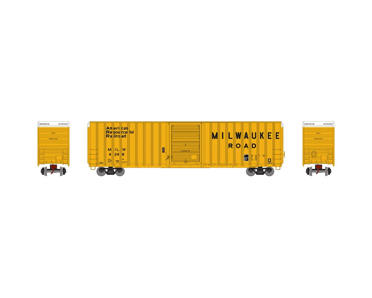 HO RTR FMC 60' Hi-Cube EP Box, MILW/Yellow #4246 by Athearn