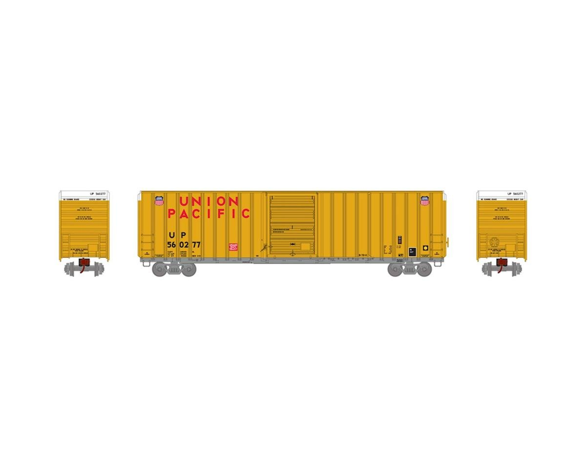 Athearn HO RTR FMC 60' Hi-Cube EP Box, UP/Yellow #560277