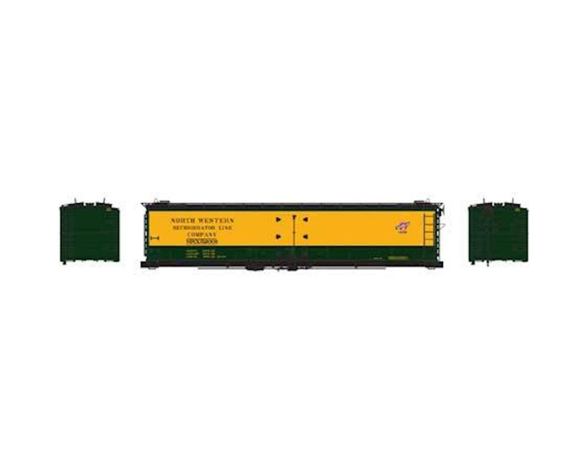Athearn N 50' Ice Bunker Reefer, C&NW #52001