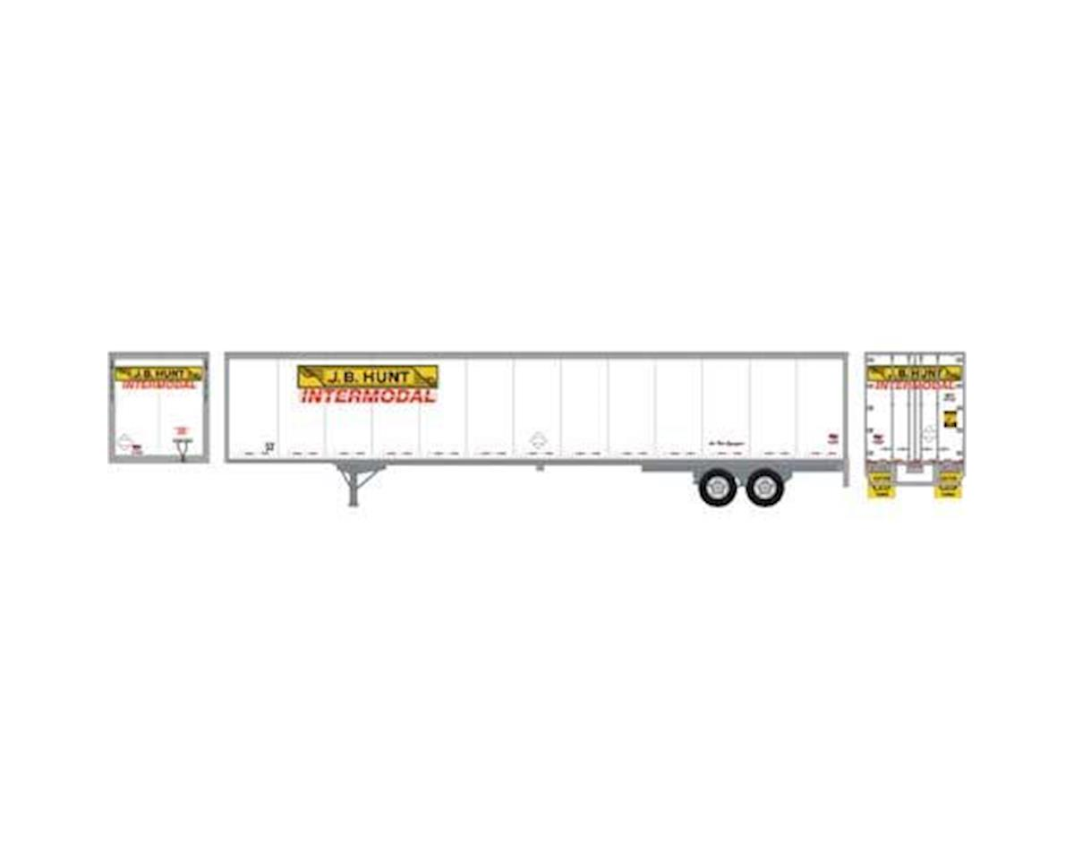 Athearn HO RTR 53' Wabash Duraplate Trailer,JB Hunt #43765