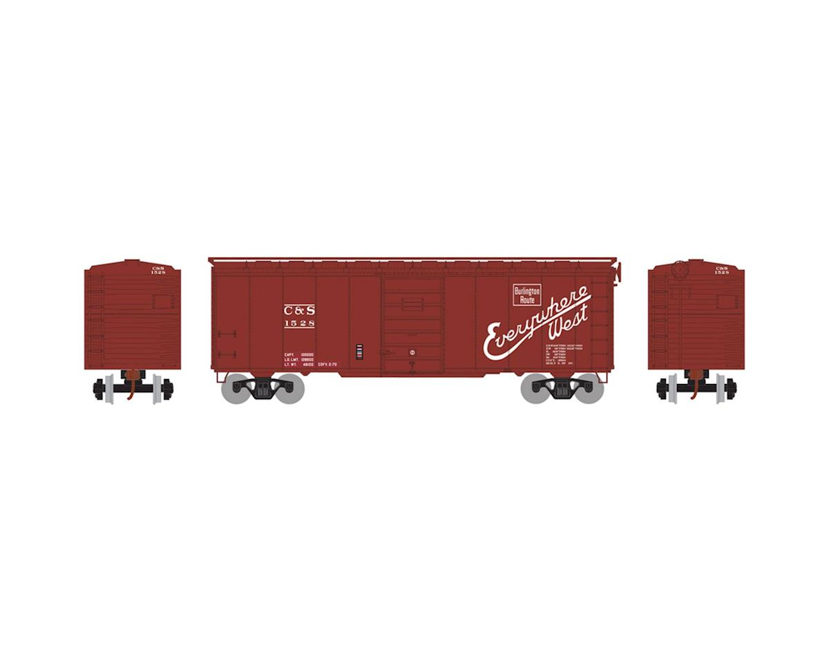 HO RTR 40' Superior Door Box, CB&Q/C&S #1528 by Athearn