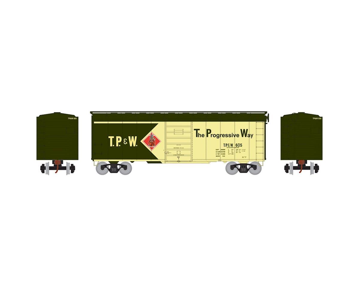 Athearn HO RTR 40' Superior Door Box, TP&W #605