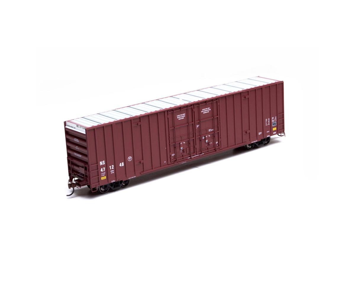 HO RTR 60' Gunderson DD Hi-Cube Box, NS/No Logo #3 by Athearn