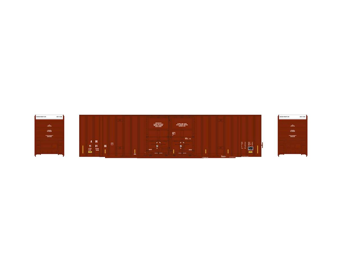 Athearn HO RTR 60' Gunderson DD Hi-Cube Box, AOK #110106