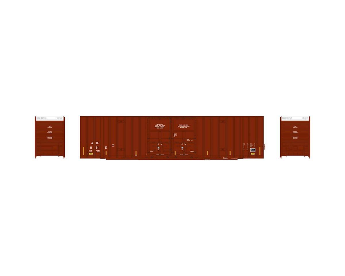 Athearn HO RTR 60' Gunderson DD Hi-Cube Box, AOK #110197