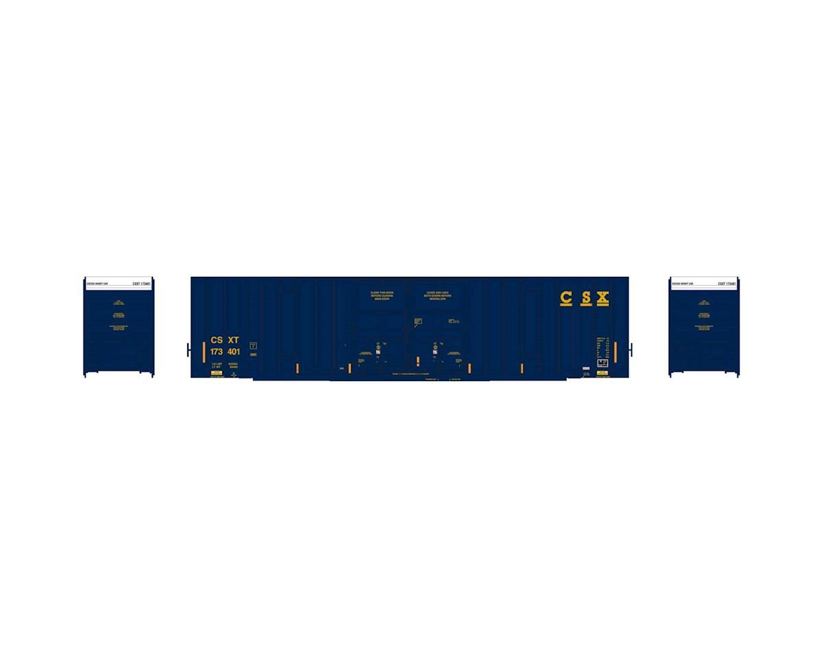 Athearn HO RTR 60' Gunderson DD Hi-Cube Box, CSX #173401