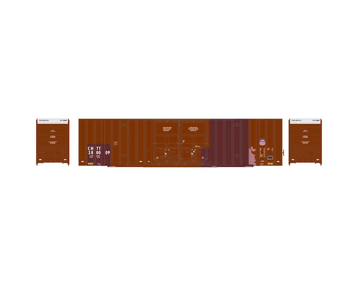 Athearn HO RTR 60' Gunderson DD Hi-Cube Box, UP/CHTT #1