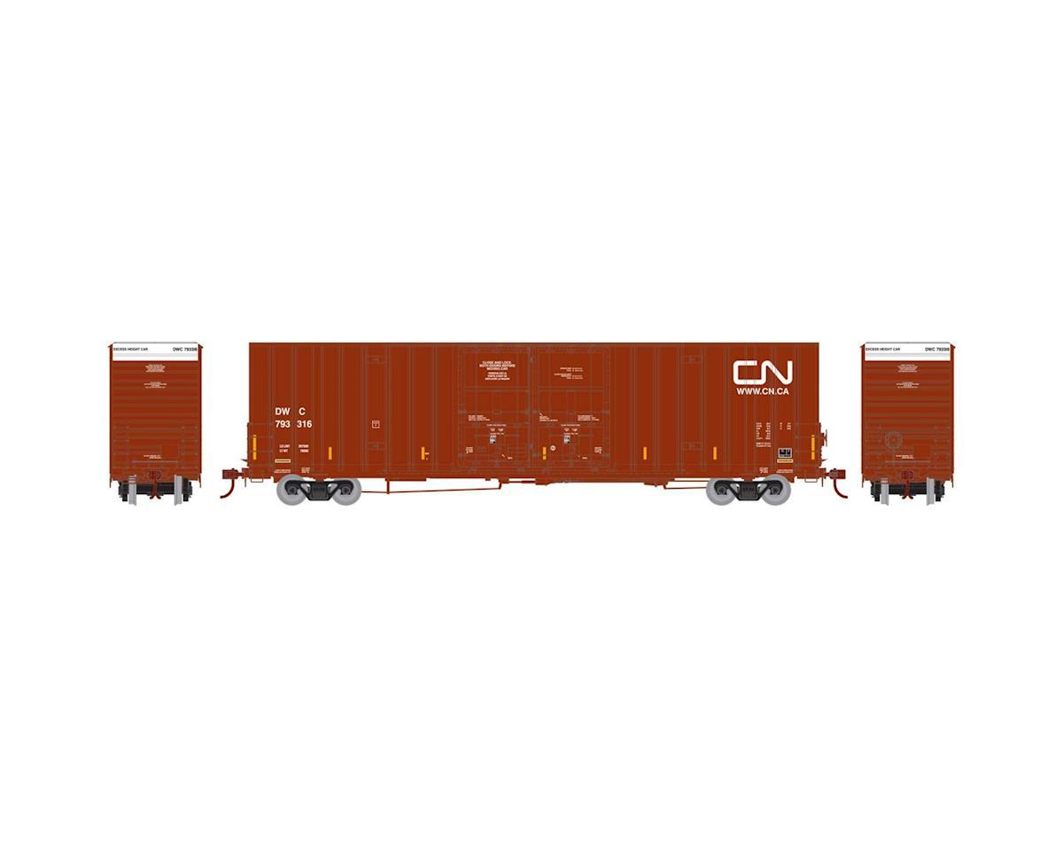 Athearn HO RTR 60' Gunderson DD Hi-Cube Box,CN/DWC #793316