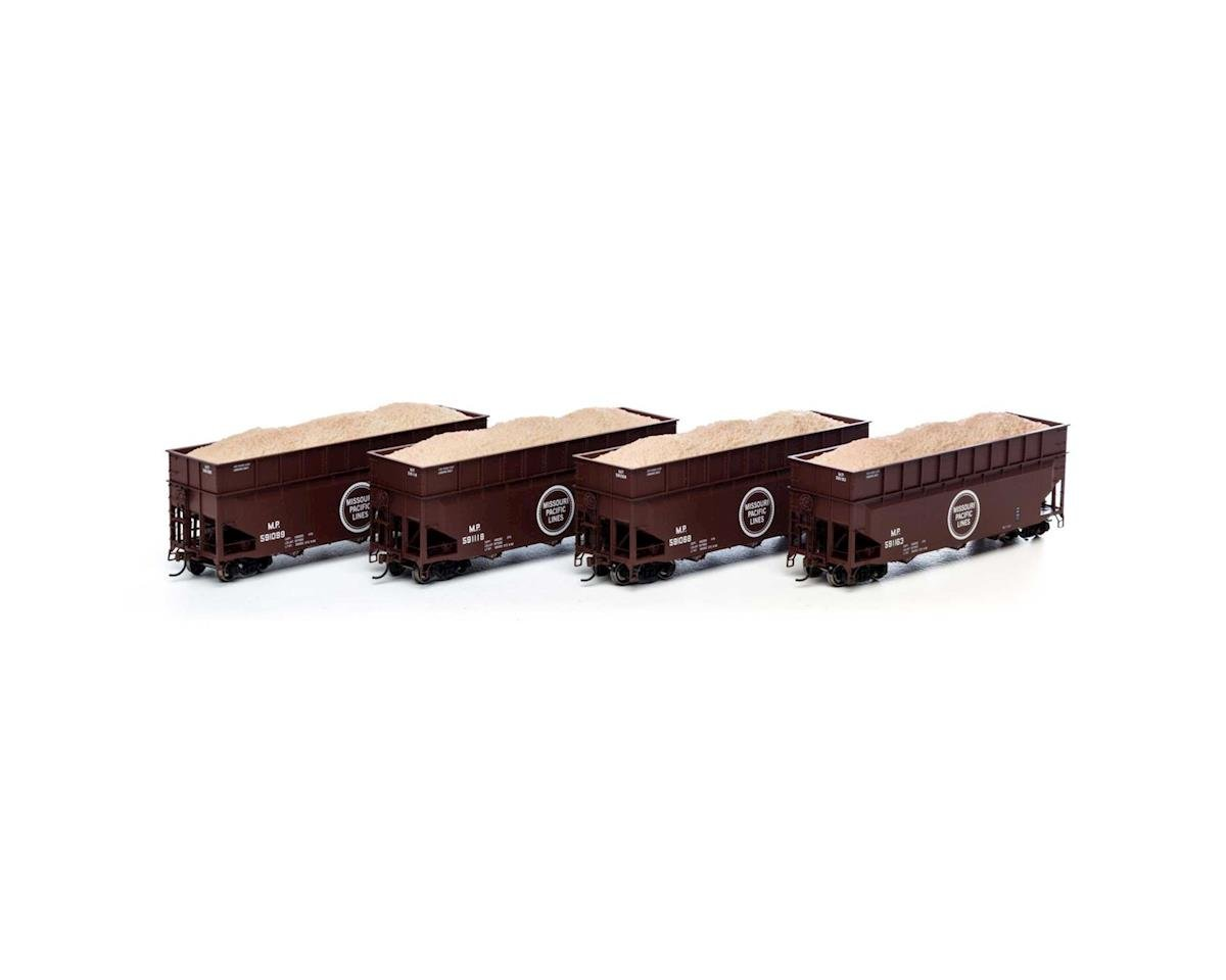 Athearn HO RTR 40' Wood Chip Hopper w/Load, MP #1 (4)