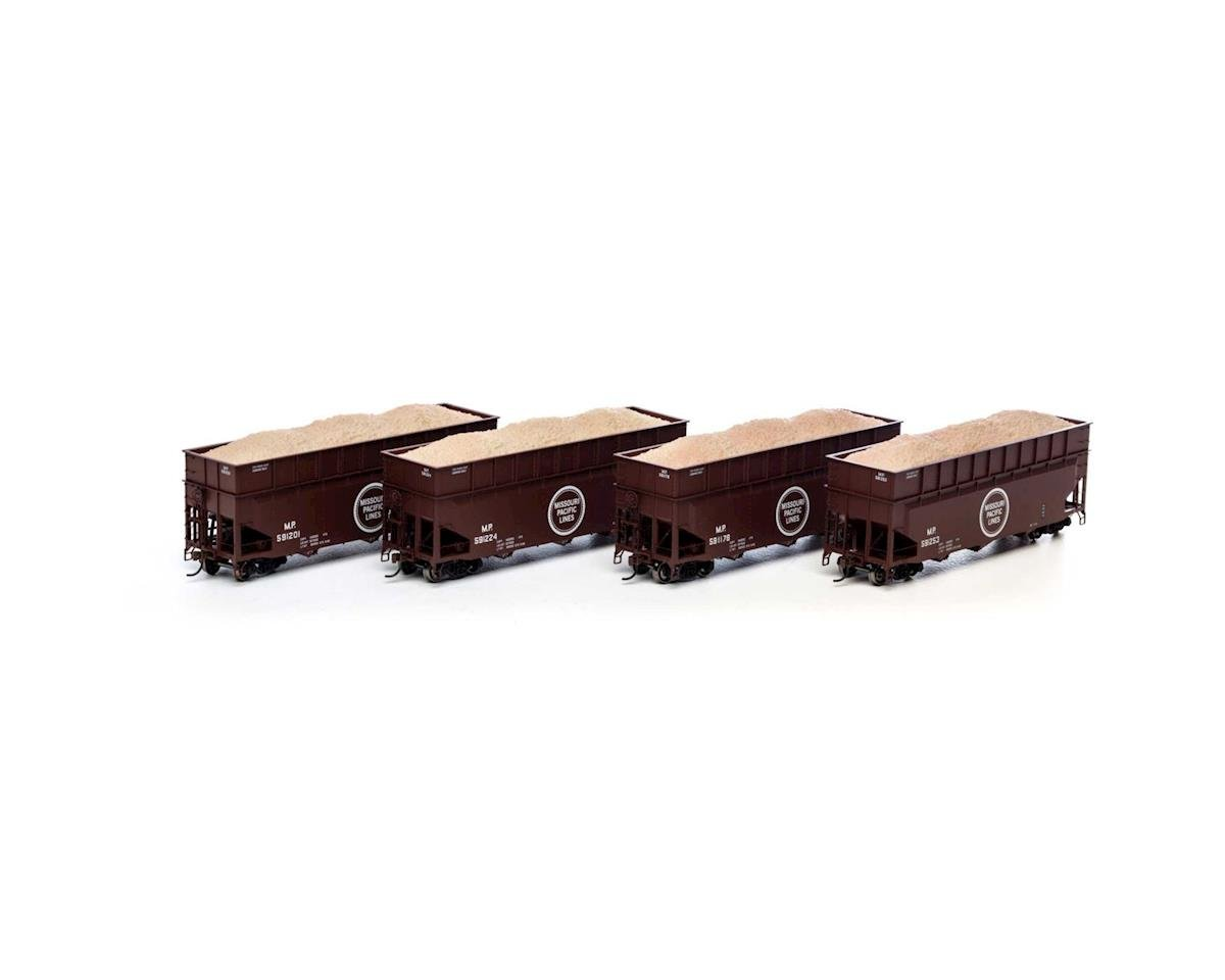 Athearn HO RTR 40' Wood Chip Hopper w/Load, MP #2 (4)