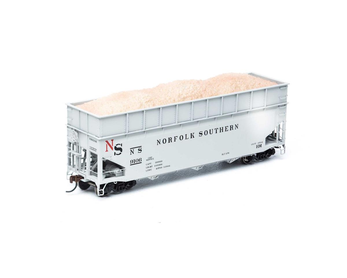 Athearn HO RTR 40' Wood Chip Hopper w/Load, NS #9106