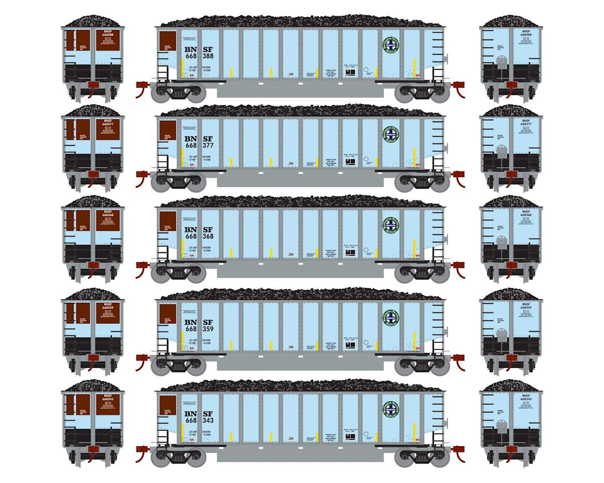Athearn HO RTR Bethgon Coalporter w/Load, BNSF #1 (5)