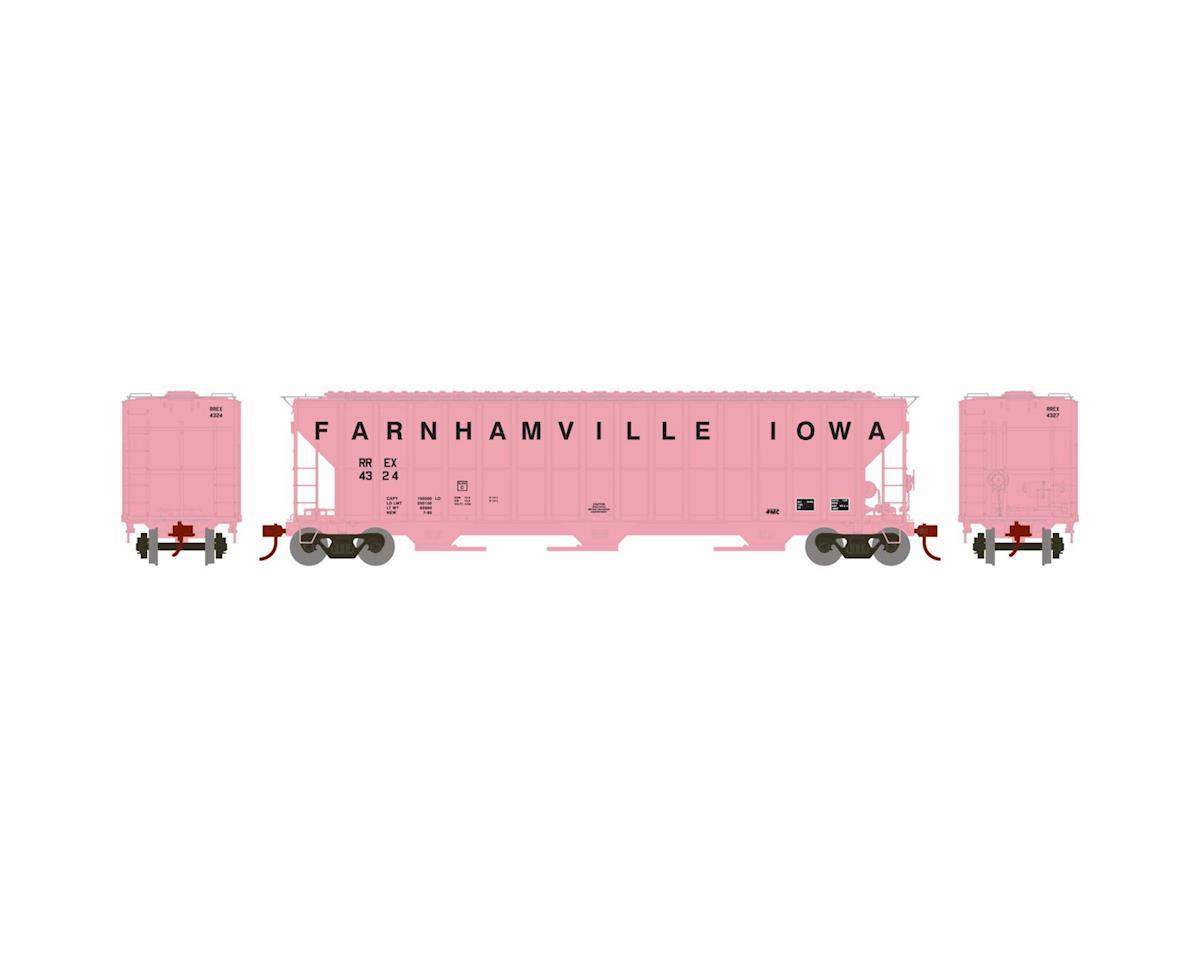 Athearn HO RTR FMC 4700 Covered Hopper, Farnhamville #4324