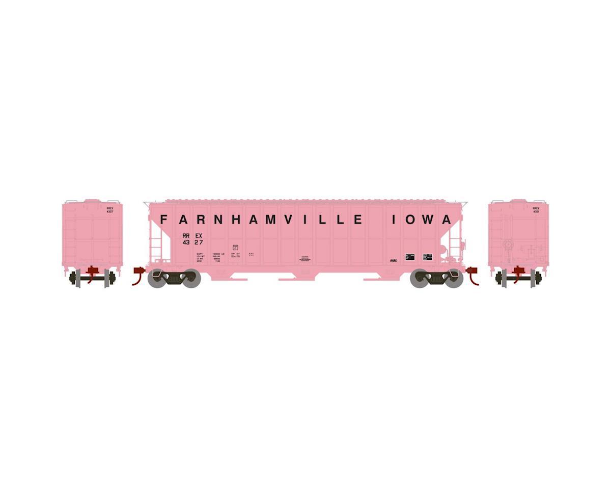 Athearn HO RTR FMC 4700 Covered Hopper, Farnhamville #4327