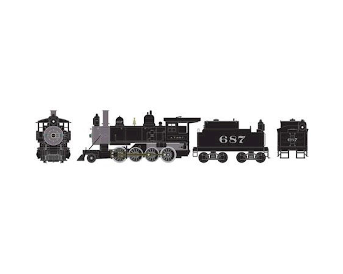 Athearn HO RTR Old Time 2-8-0 w/DDC & Sound, SF #687