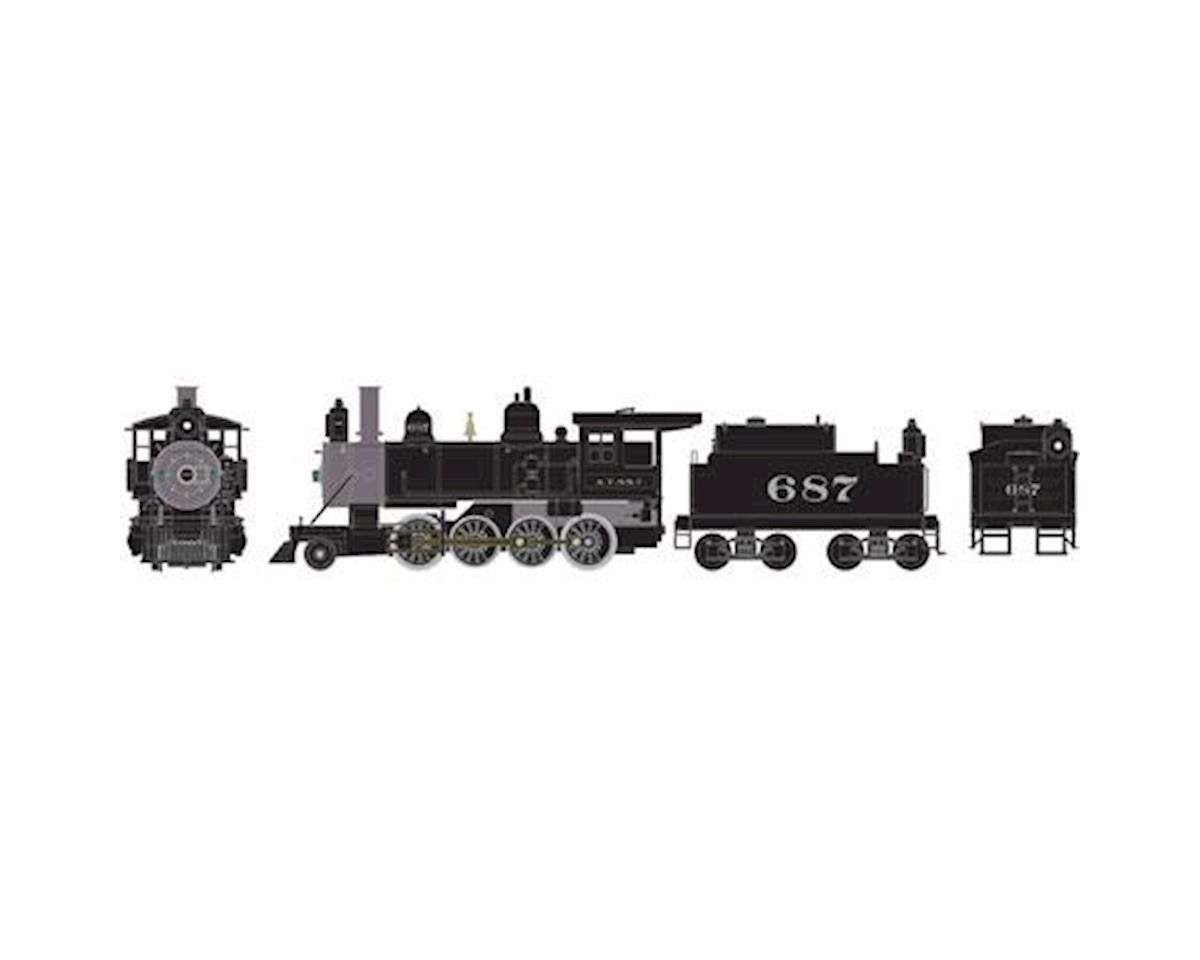 HO RTR Old Time 2-8-0 w/DDC & Sound, SF #687 by Athearn